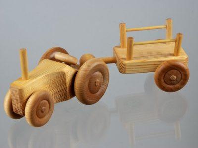 טרקטור קטם עם עגלה