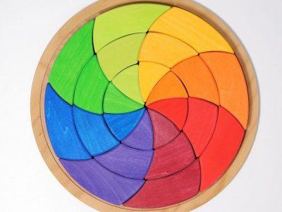 משחק הרכבה מעגל צבעוני