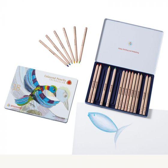 קופסת פח 18 עפרונות