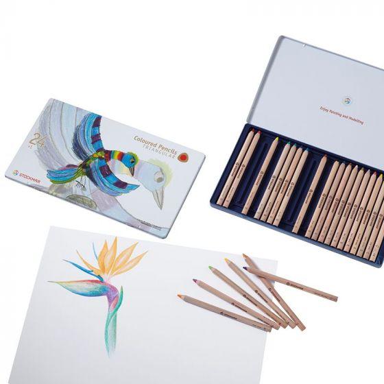 קופסת פח 24 עפרונות