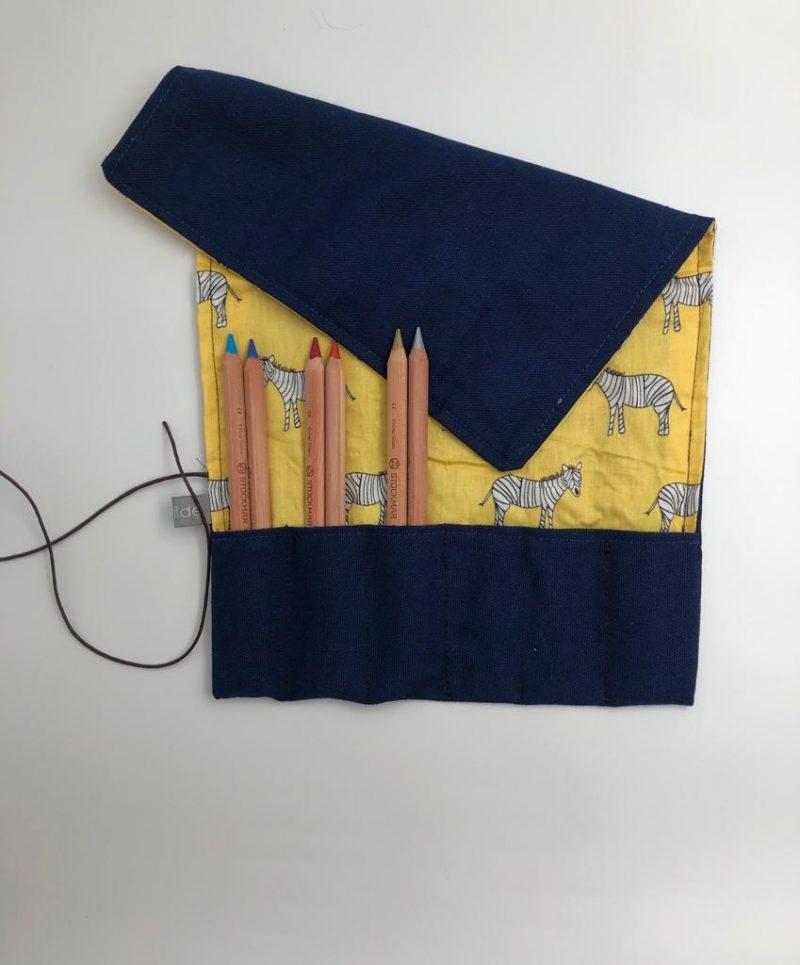 דוגמא לסידור העפרונות בקלמר