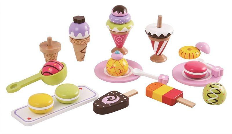 סט גלידות ומתוקים פתוח