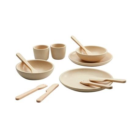 סט כלי אוכל חדש מעץ
