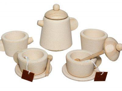 סט תה מעץ- טבעי
