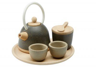 סט כלי תה קלאסי מעץ
