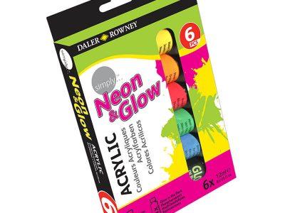סט 6 צבעי אקריליק ניאון