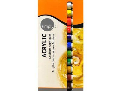 סט 12 צבעי אקריליק
